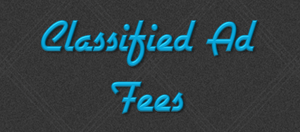 Classified Ad Fees